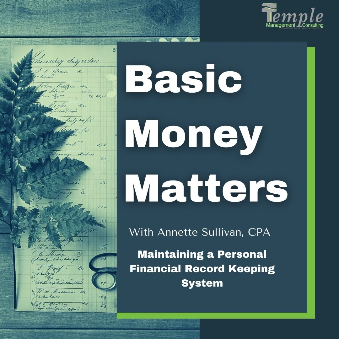 Maintaining a Personal Financial Record Keeping System