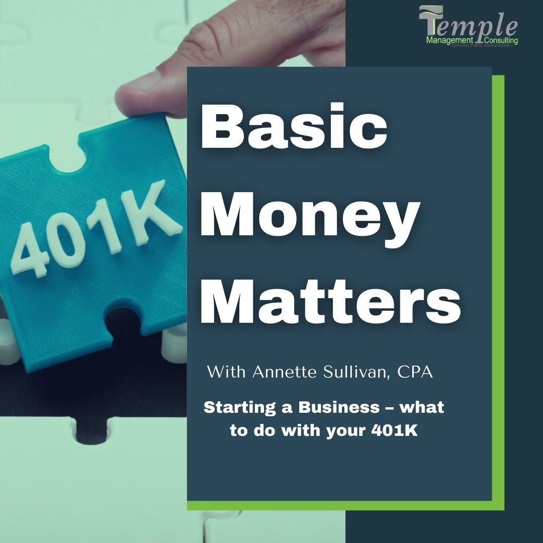 Sarting a Business – what to do with your 401K