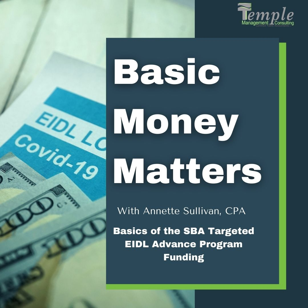 Basics of SBA Targeted EIDL Advance Program Funding