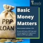Do you still have a PPP loan and have not yet applied for forgiveness? Here is a PPP loan update.